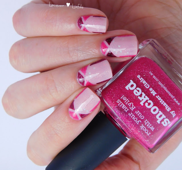 Girly Picture Polish Nail Art Posey, Monroe, Shocked