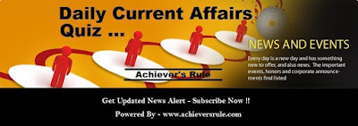 Daily Current Affairs MCQ- 21st June 2017