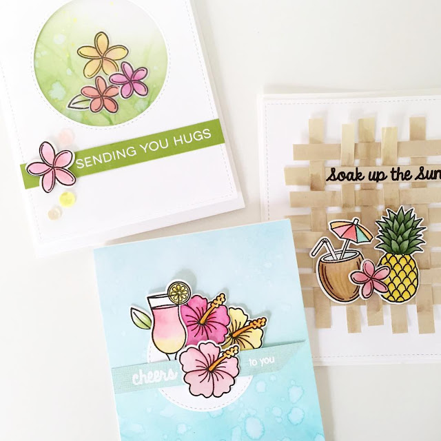 Sunny Studio Stamps: Tropical Paradise Summer Island Themed Cards by Nancy Damiano