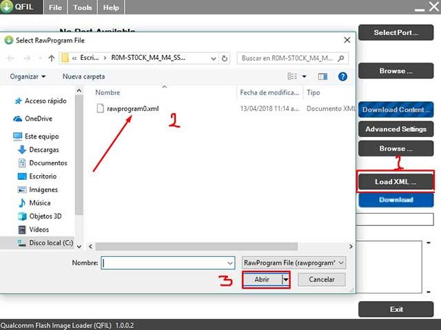 buscar y cargar el archivo RamProgram