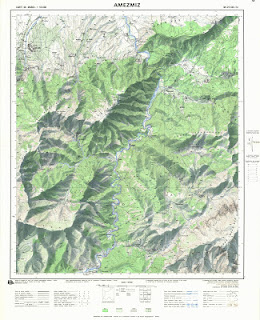AMEZMEZ 1  Morocco 50000 (50k) Topographic map free download
