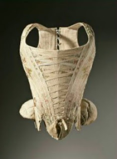 Photo of heavily boned and laced corset from the 1700