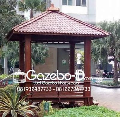 Gazebo Taman Kayu Glugu Jepara