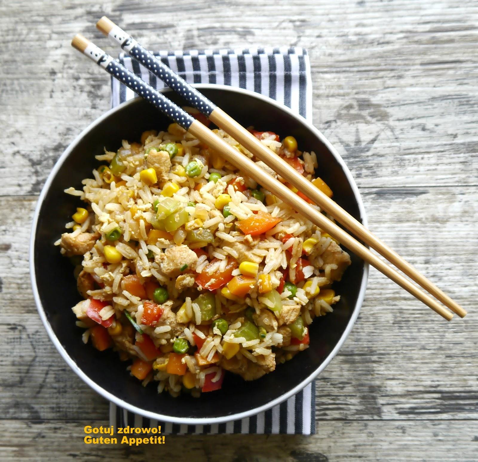 Kurczak Z Woka Z Ryżem I Warzywami Gotuj Zdrowo Kolorowo