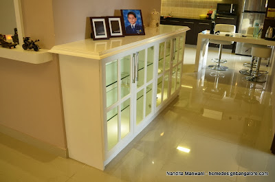 White Crockery unit with Lighting