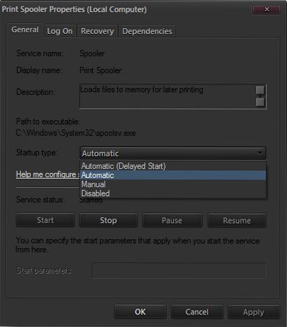 Cara mengatasi print spooler di windows 7