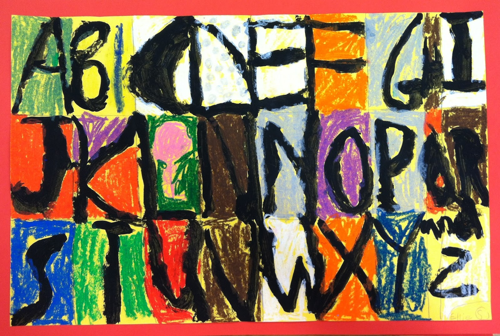 Art With Mrs A 1st Grade Abc Art