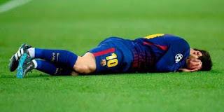 عاجل  بسبب الأصابة ليونيل ميسي مهدد بالغياب عن مباراة الكلاسيكو شاهد بالفيديو لحظة الاصابة