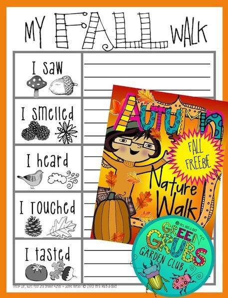 My Fall Walk printable