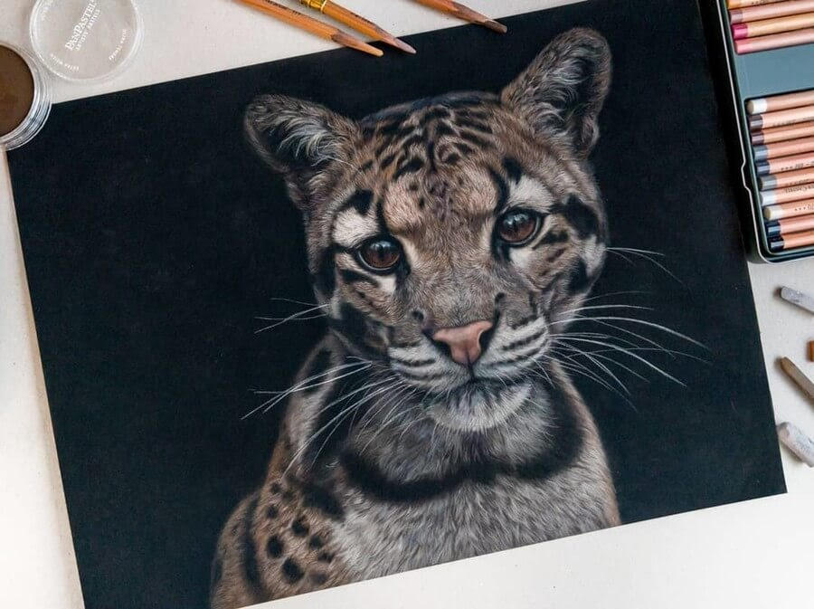 04-Leopard-Kitten-Tatjana-Bril-Pastel-Drawings-of-Detailed-Animals-www-designstack-co