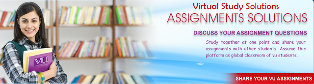 Virtual University Assignment Solution Spring 2017