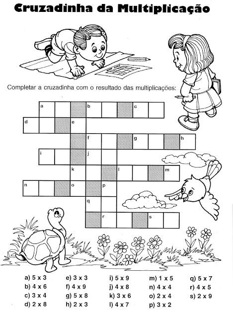 matematica-multiplica%25C3%25A7%25C3%25A3o%2Bcruzadinha Atividades Multiplicação