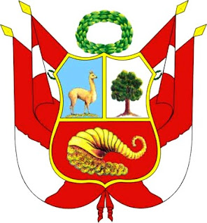 Dibujo del Escudo del Perú a color