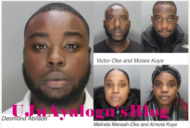 Photos- Nigerian Gang members sentenced to Jail Over £610k Fraud In The U.K