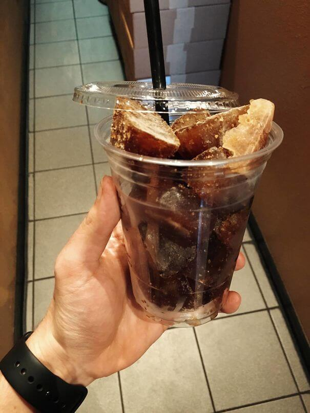 20 Innovative Food Inventions We Had Never Seen Before - The Local Coffee Shop Uses Frozen Coffee Cubes To Make Iced Coffee