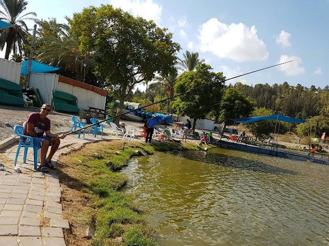 לדוג בשלווה בפארק הדייג