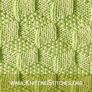 Tumbling Moss Blocks | Knit - Purl stitches