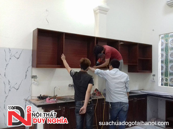 Sửa chữa tủ bếp tại nhà Hà Nội