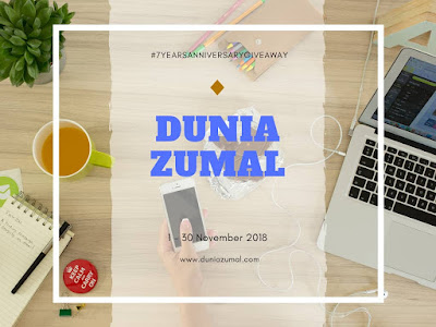 #7YearsAnniversaryGiveaway Dunia Zumal, Blogger Giveaway, 2018,