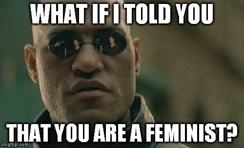 meme feminism morpheus matrix