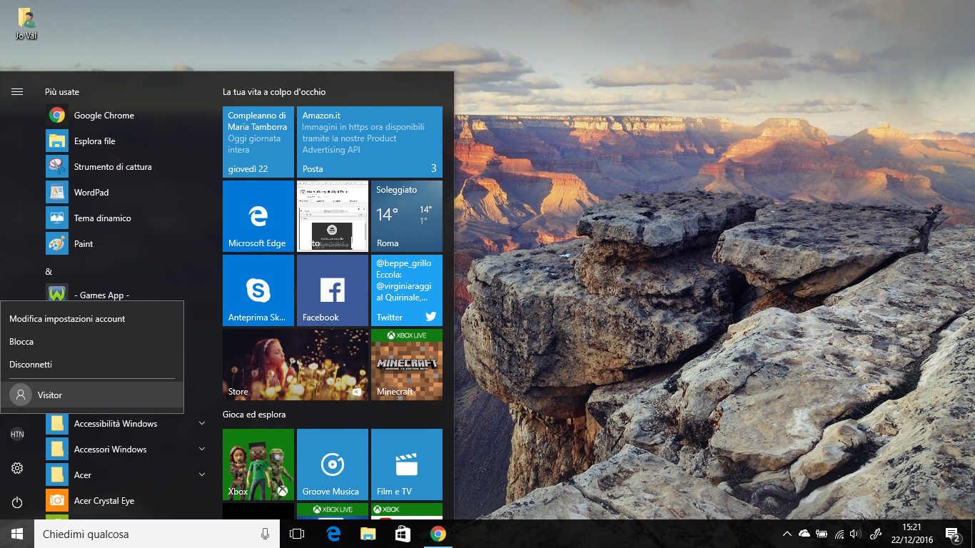 Come aggiungere un Account Guest in Windows 10 HTNovo