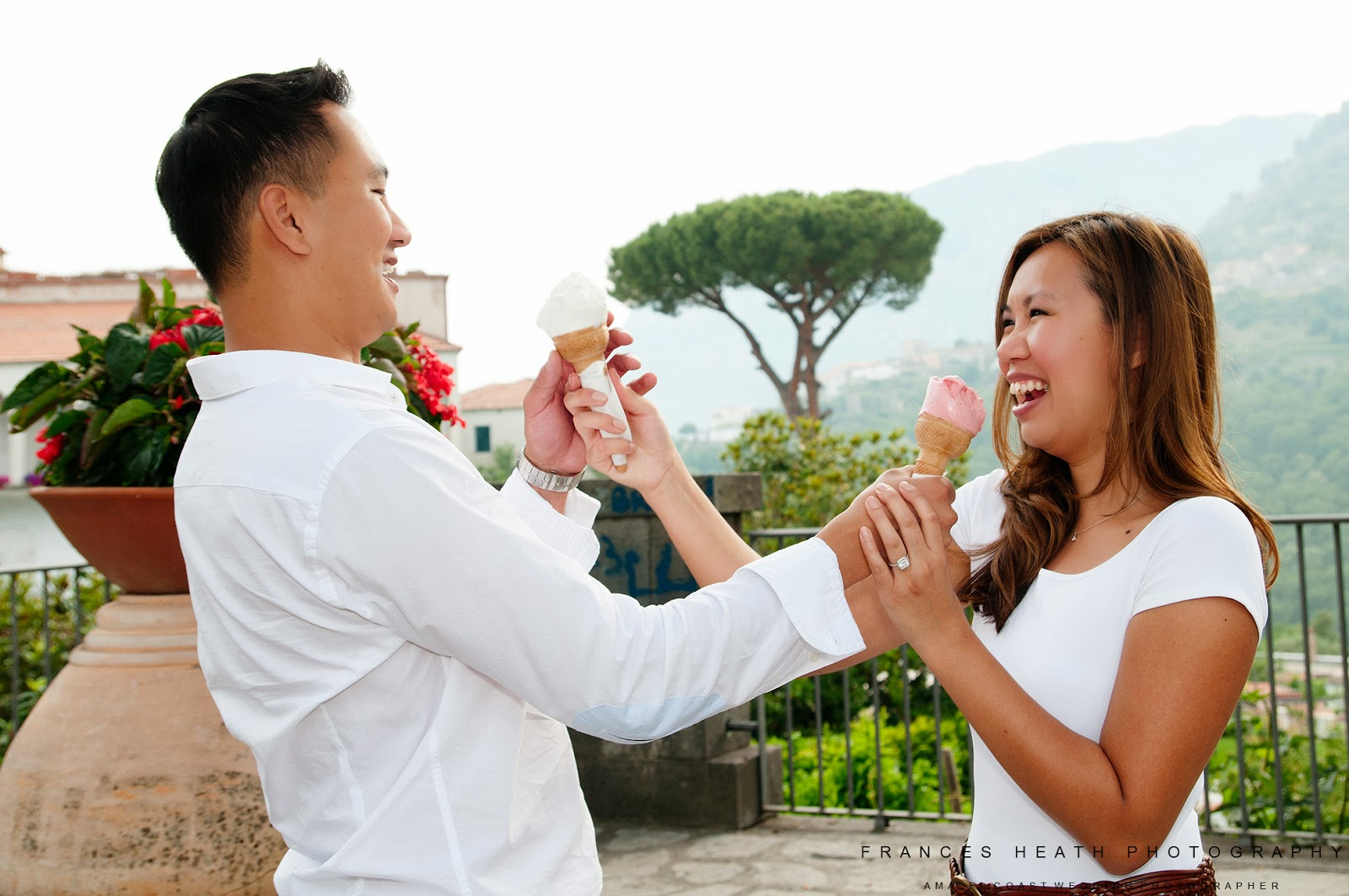Portraits with ice cream in Ravello