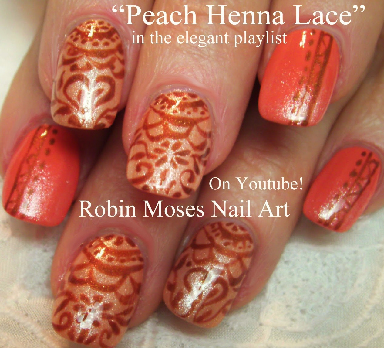 """Nail Art Henna: Robin Moses Nail Art: """"orange Nails"""" """"nail Art"""" """"peach"""