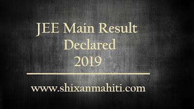 JEE Main Result Declared 2019