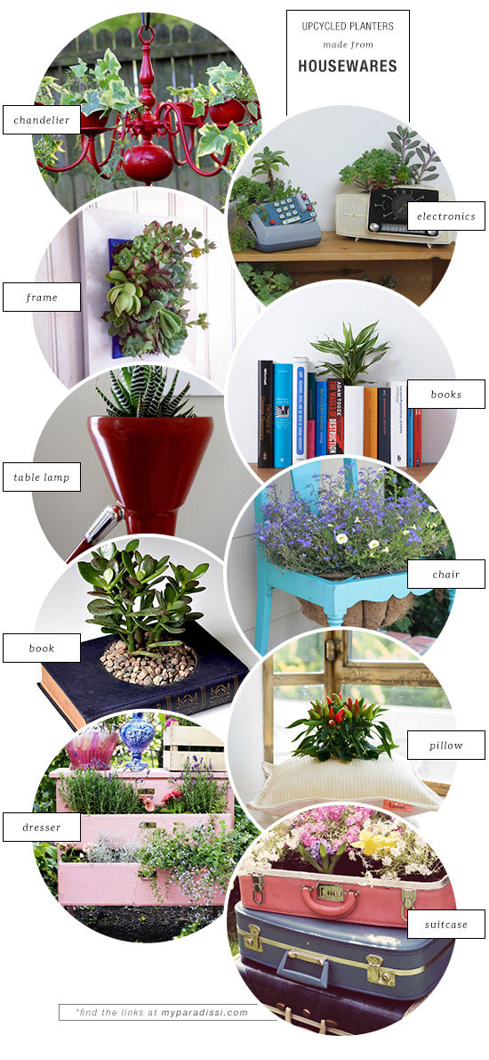 10 unexpected upcycled planters made from housewares