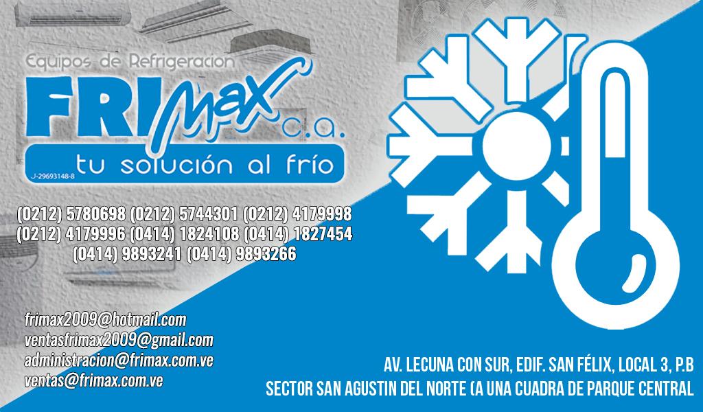 EQUIPOS DE REFRIGERACION FRIMAX, C.A. en Paginas Amarillas tu guia Comercial