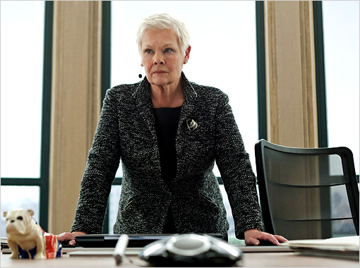 Judi Dench as M in Skyfall movieloversreviews.filminspector.com