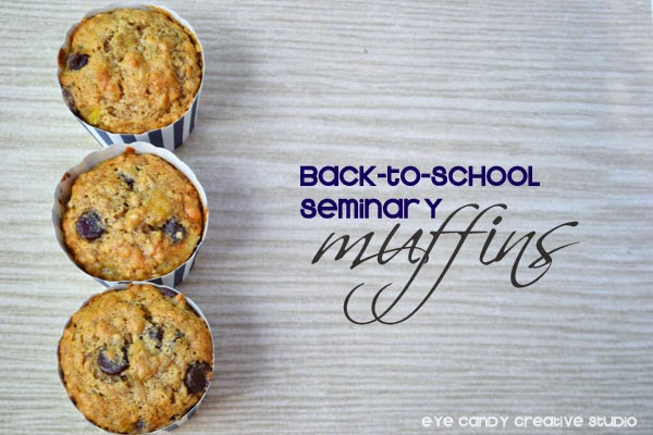 back to school seminary muffins, healthy muffin recipe, school breakfast idea