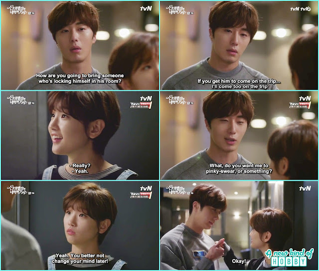 ji won said if ha won bring hyun min he will also go on the trip  - Cinderella and Four Knights - Episode 7 Review - I Love Her, I Love Her Not