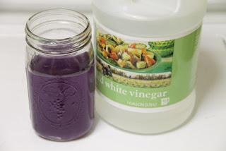 Vinegar and neutralized lye solution
