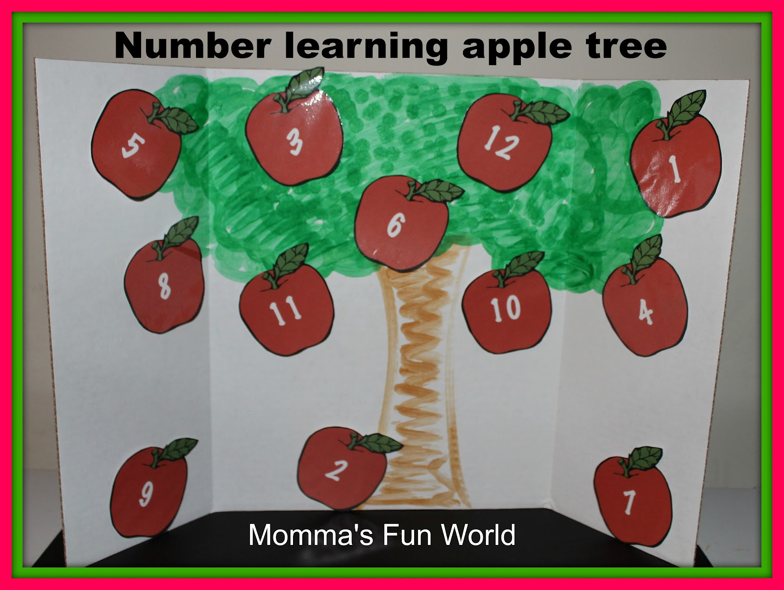 Momma S Fun World Make Your Own Number Learning Apple Tree