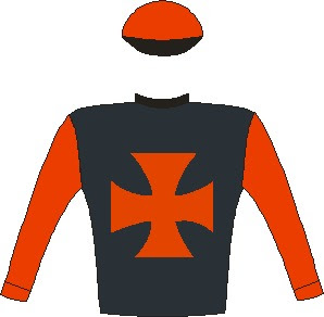 African Night Sky - Silks - Owner: Mr A L A Crabbia - Colours: Black, red maltese cross and sleeves, red cap, black peak