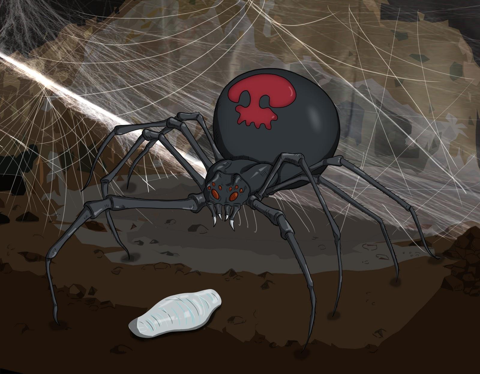 пестролистные паук и паучиха картинки менее, для