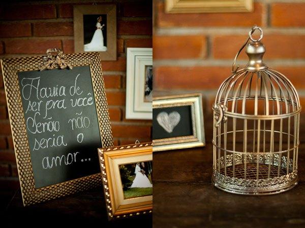 Lousa na decoração do seu casamento
