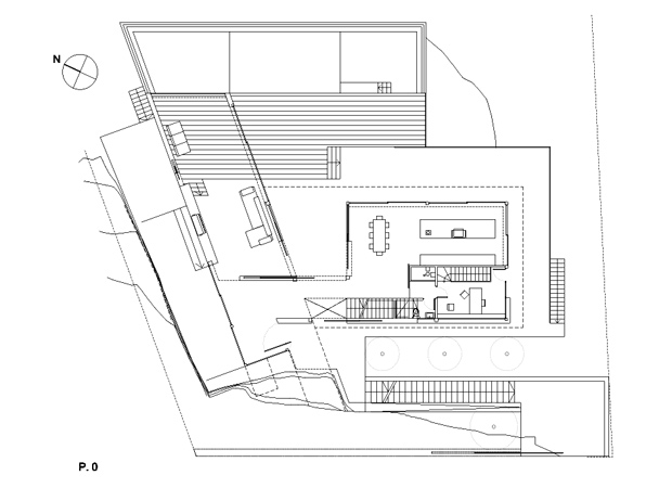 Ground floor plan of Casa 115 by Miquel Àngel Lacomba