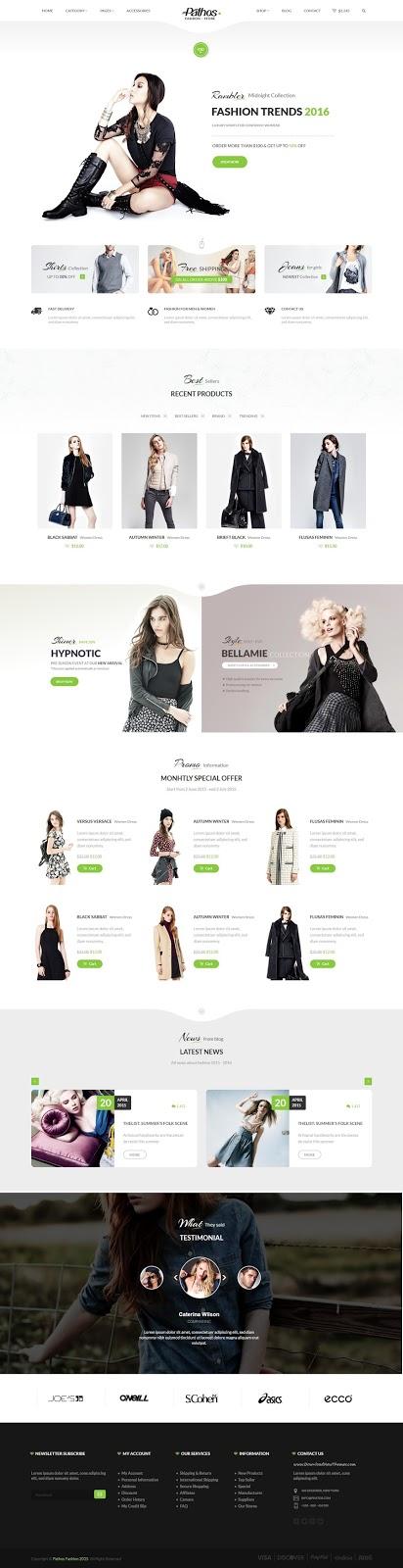 Pathos eCommerce responsive html template