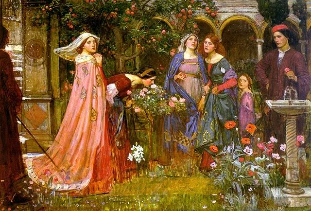 The Enchanted Garden di John William  Waterhouse- Opera rilasciata nel Pubblico Dominio