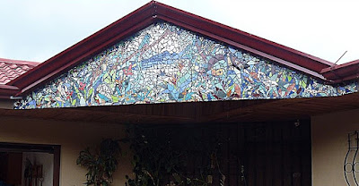finished gable mosaic in costa rica