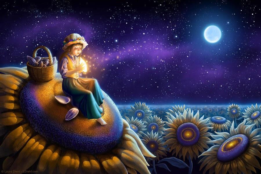 06-Sunflower-Wish-Laura-Diehl-Fantasy-www-designstack-co