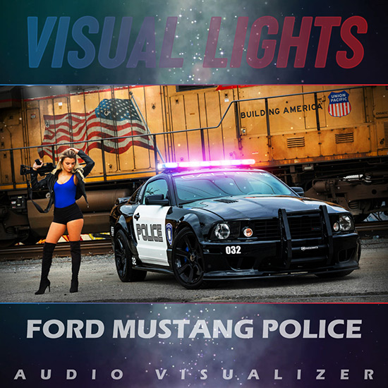 VISUAL LIGHTS - Ford Mustang Police Wallpaper Engine
