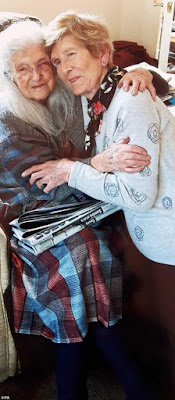81 year-old woman given up for adoption reunites 103-year-old mother for the first time after 80 years