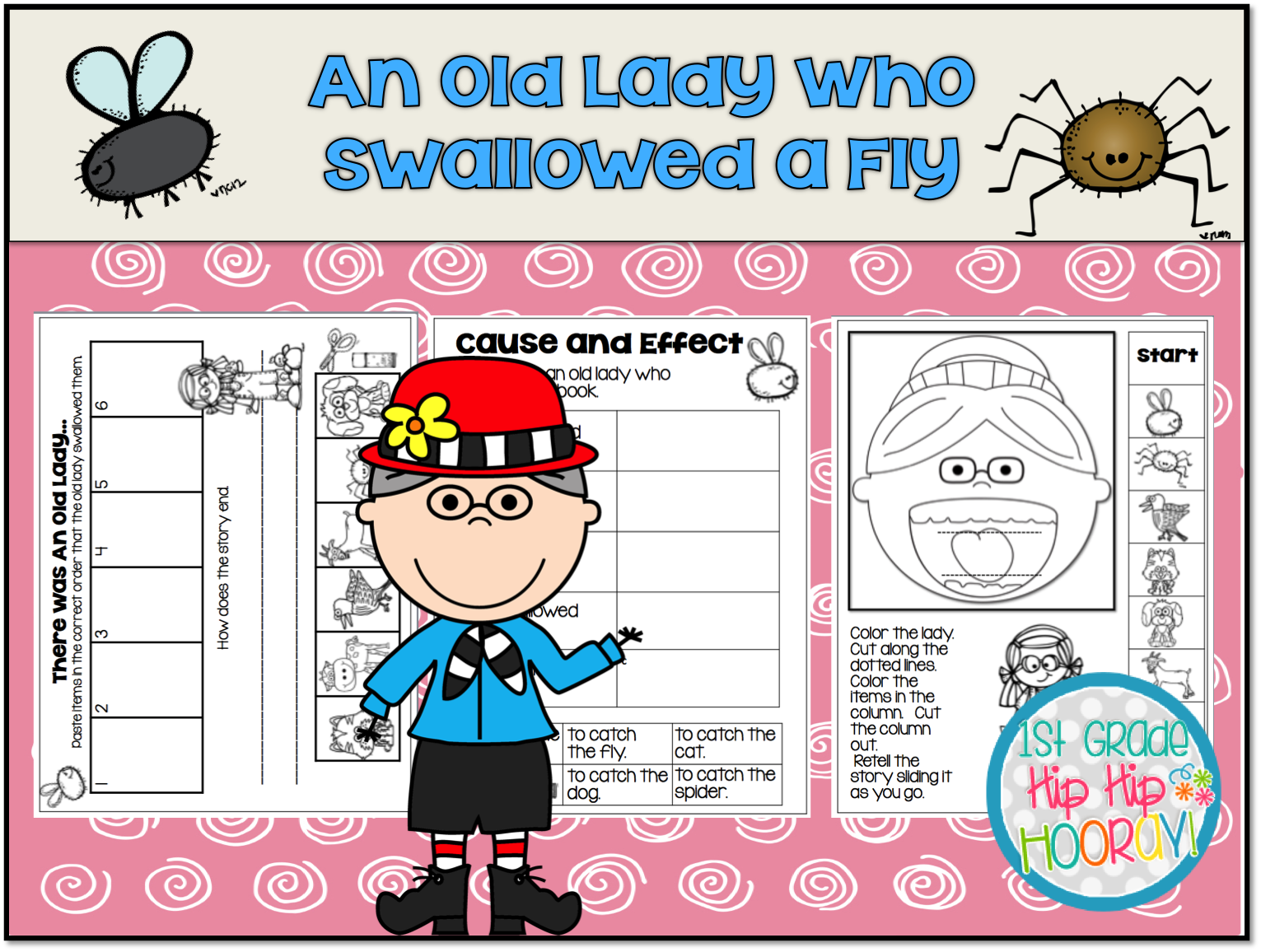 1st Grade Hip Hip Hooray Old Lady Who Swallowed A Fly