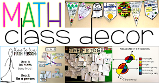 Math classroom decoration and setup ideas