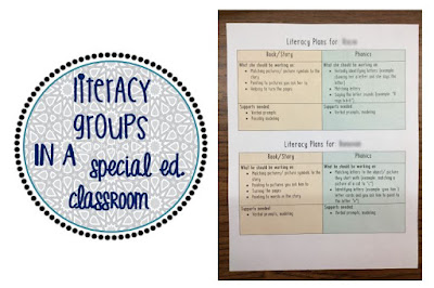Literacy Groups in Special Education