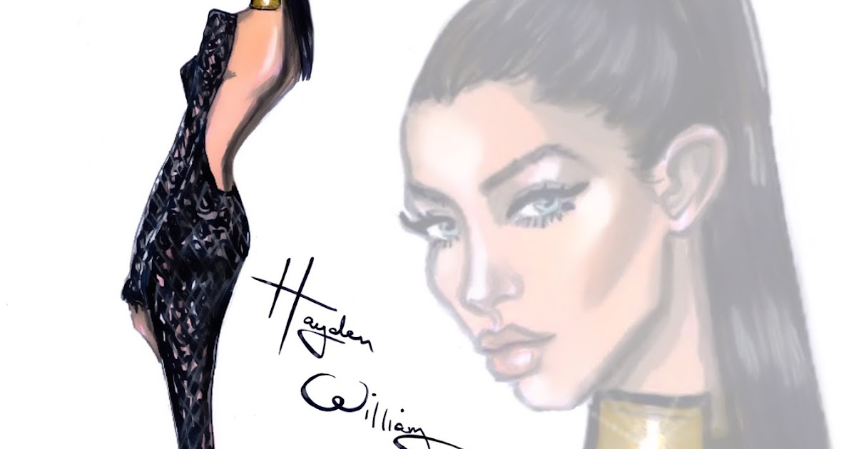 Hayden Williams Fashion Illustrations Happy Birthday Bella