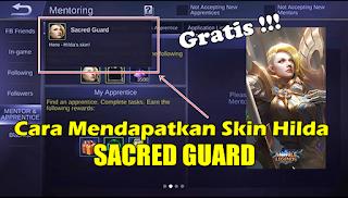 Cara Mendapatkan Skin Hilda Sacred Guard Mobile Legends Gratis